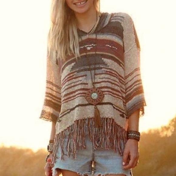 Free people sweater BoHo style